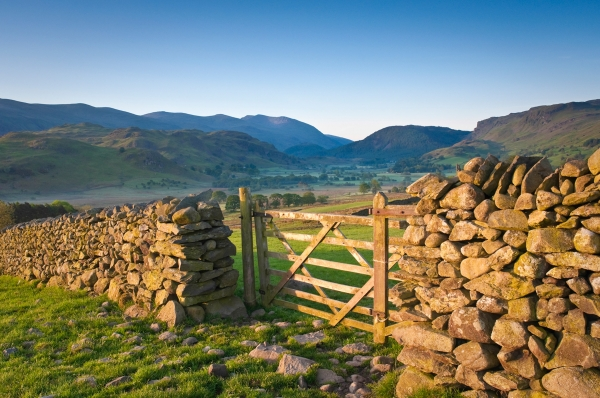 Farm land with dry stone wall