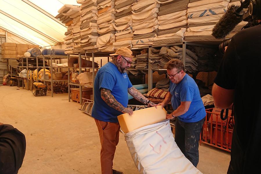 prof duncan cameron and prof tony ryan syrian mattress project